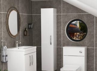 toilet and sink vanity unit