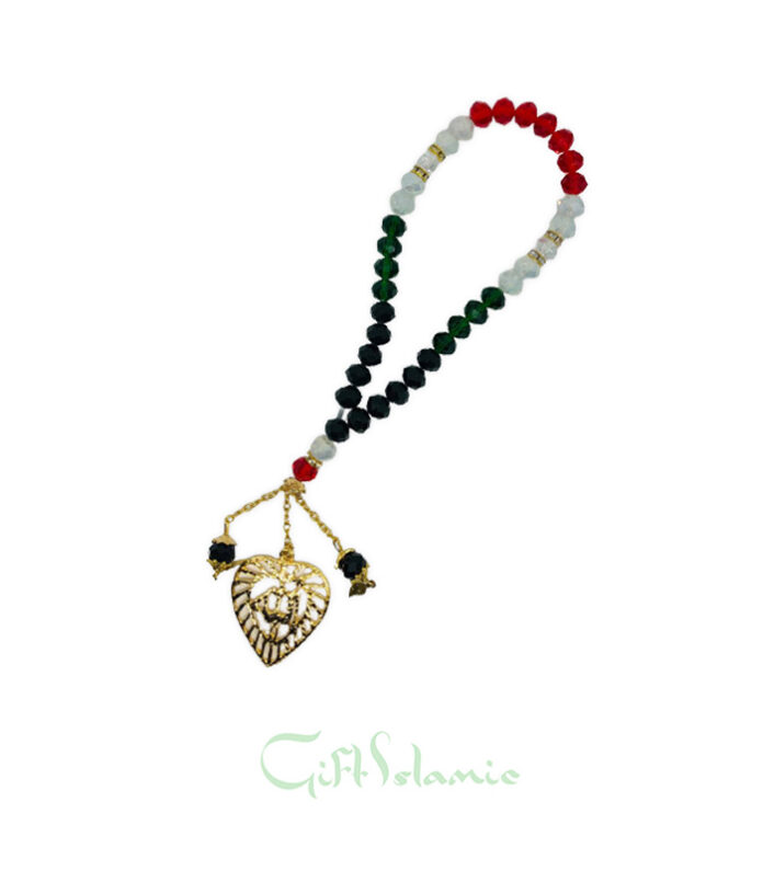 This is crystal prayer Islamic tasbih features optimum quality prismatic cut beads that shine in light and sparkle luminously