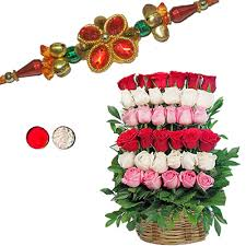Flower rakhi to USA