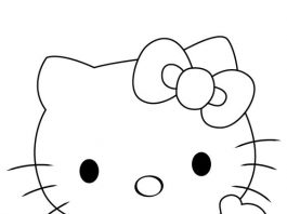 Hello kitty Drawing